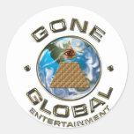 white Gone Global Sticker