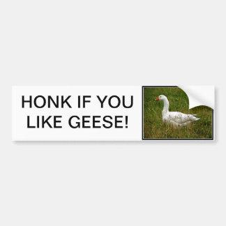 White Goose Bumper Sticker