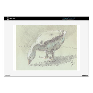 White Goose drawing Decals For Laptops