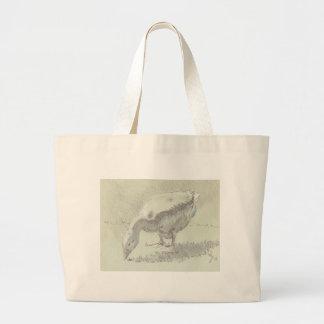 White Goose drawing Tote Bag