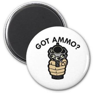 White Got Ammo Pistol Magnet
