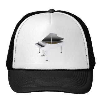 White Grand Piano: 3D Model: Trucker Hat
