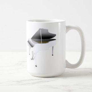 White Grand Piano: 3D Model: Coffee Mugs