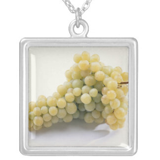 White grape For use in USA only.) Silver Plated Necklace
