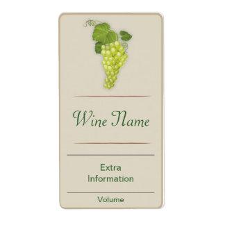 White Grape Wine Label