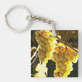 White Grapes Autumn Harvest Watercolor Keychain