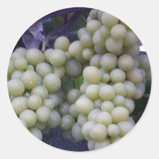 White Grapes Classic Round Sticker