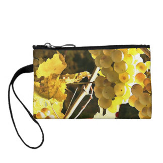 White Grapes Fall Harvest Watercolor Coin Purse