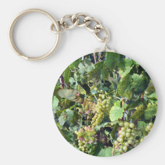 White grapes in a vineyard keychain