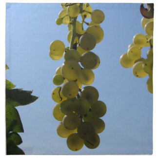 White grapes on the vine against the blue sky napkin