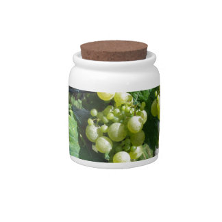 White Grapes on the Vine Candy Dish