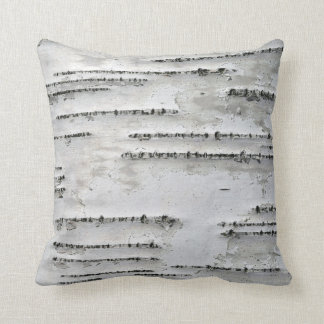 White, Gray and Black Birch Bark Throw Pillow
