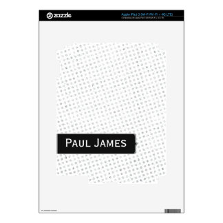White Gray and Black Polka Dots iPad 3 Decal