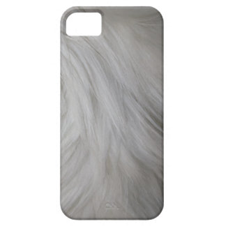 White gray blue fur feathery image, iPhone 5 case