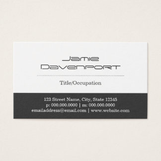 White & Gray Color Blocks Business Card