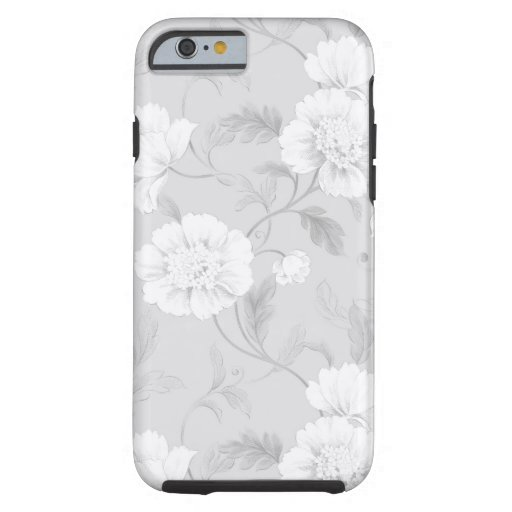 White & Gray Floral phone case