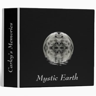 White / Gray Globe Fractal Custom Binder
