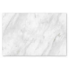White & Gray Marble Elegant Wedding Tissue Paper