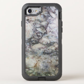 White Gray Marble Swirl OtterBox Defender iPhone 7 Case