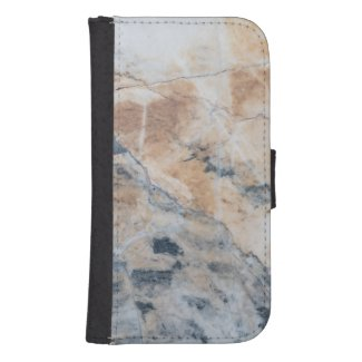 White & Gray Touch Of Beige Marble Stone G4 Galaxy S4 Wallet Cases