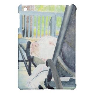 White Great Dane Pup iPad Mini Covers