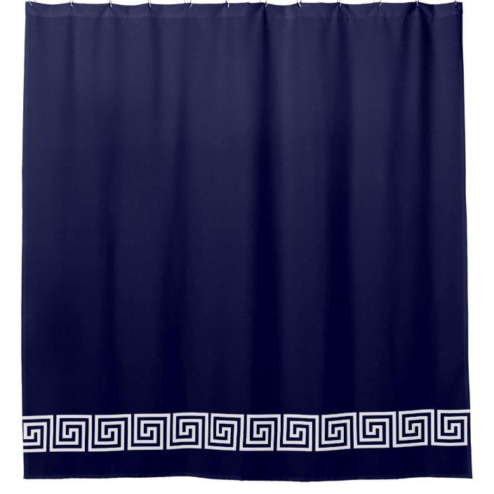 Custom Color Navy Blue Shower Curtain