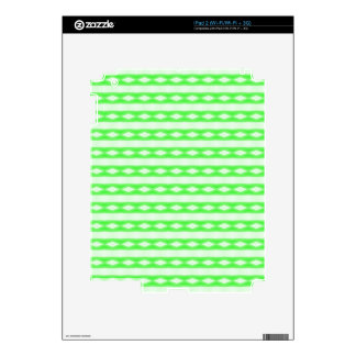 White & green abstract pattern decal for iPad 2