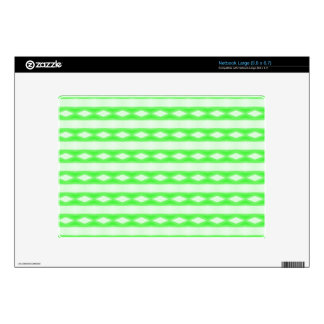 White & green abstract pattern decals for netbooks