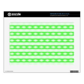 White & green abstract pattern small netbook decals