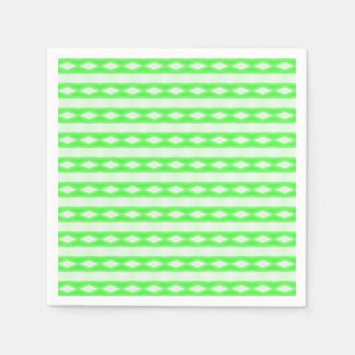 White green abstract pattern disposable napkins