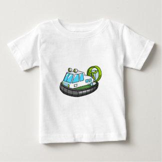 White, Green, and Black Cartoon Hovercraft Baby T-Shirt