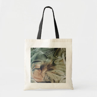 white Green and brown flower flowers Budget Tote Bag