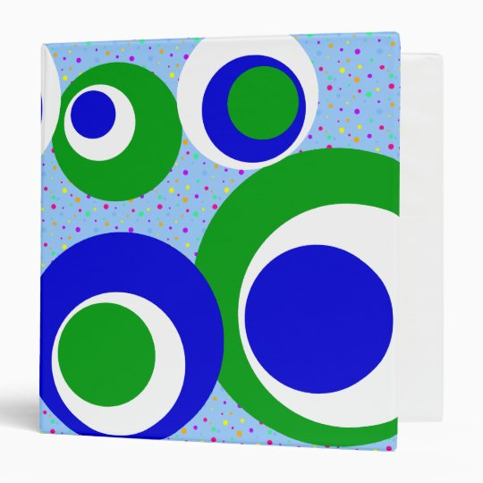 white green blue spots binder
