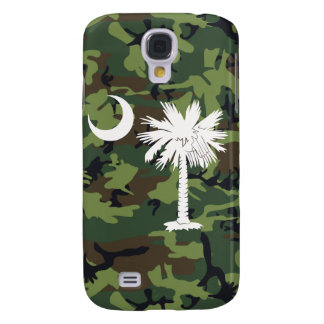 White/Green Camouflage Palmetto Moon iPhone 3G/3GS Samsung Galaxy S4 Cover
