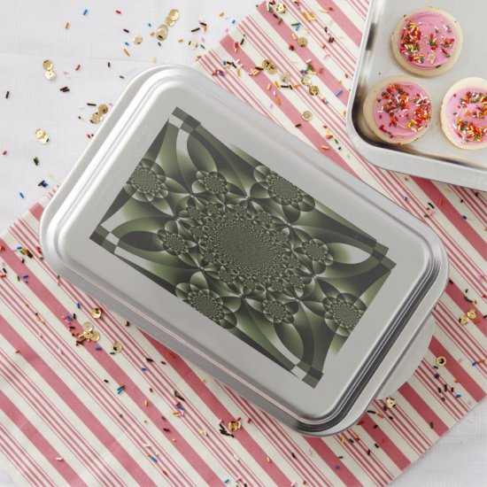 White Green Forest Leaf Petals Cake Pan
