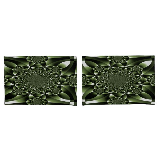 White Green Forest Leaf Petals Pillow Case