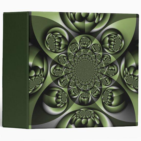 White Green Forest Mini Spheres 3 Ring Binder