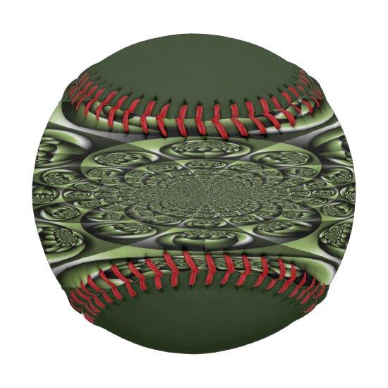 White Green Forest Mini Spheres Baseball