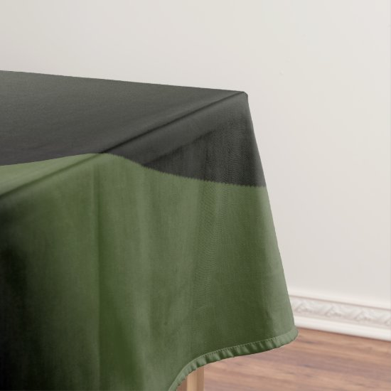 White Green Forest Mini Spheres Tablecloth