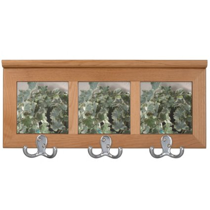 white green ivy pretty plant design coat rack