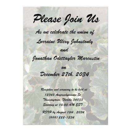 white green ivy pretty plant design personalized invitation