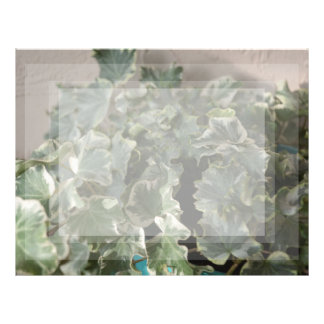 white green ivy pretty plant design letterhead template