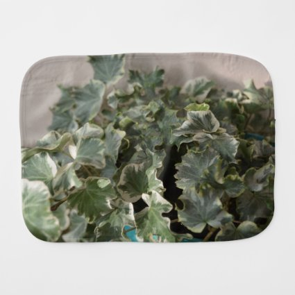 white green ivy pretty plant design baby burp cloths