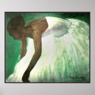 White, Green Osmosis Poster