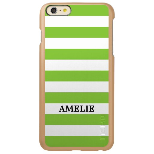 White Green Stripes Pattern {pick your color} Incipio Feather Shine iPhone 6 Plus Case