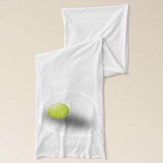 White green tennis scarf Tennis ball