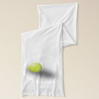 White green tennis scarf Tennis ball