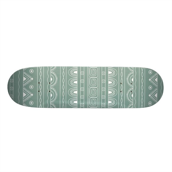 white&grey aztec pattern skateboard deck
