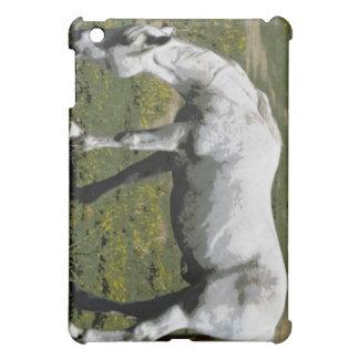 White / Grey Horse Case For The iPad Mini