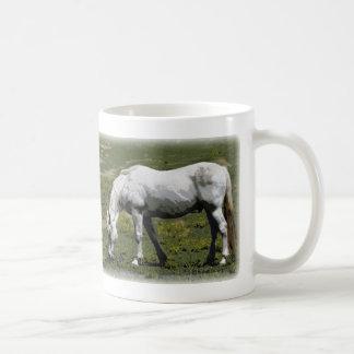 White / Grey Horse Coffee Mug